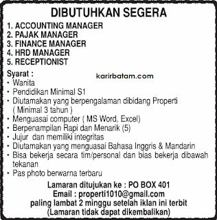 Lowongan Kerja Accounting Manager dan Receptionis