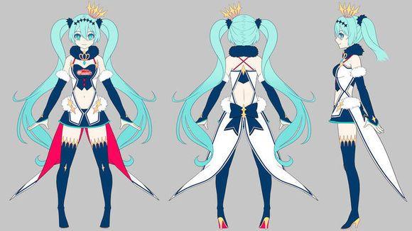 Character Design Competition 2018 : El rey de otaku diseño hatsune miku gt project