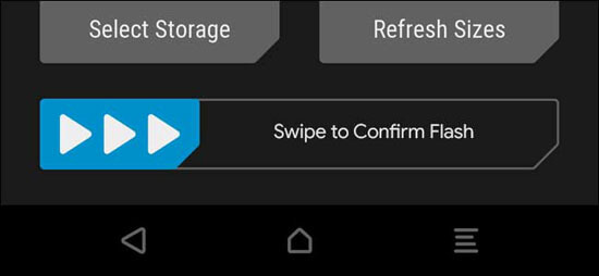 Swip to Confirm Flash TWRP