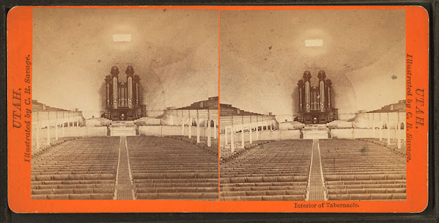 Interior of Tabernacle. Alternate Title: Utah. Charles Roscoe Savage. Medium: albumen print.