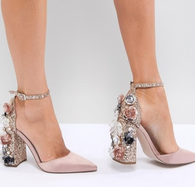 ASOS DESIGN Passionate Embellished High Heels