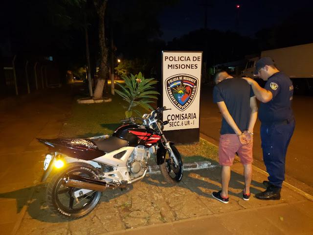 Posadas : Motociclista alcoholizado fue detenido y la moto secuestrada