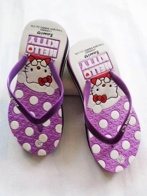 Grosir Sandal Wedges | Sandal HK Love Tebal Anak