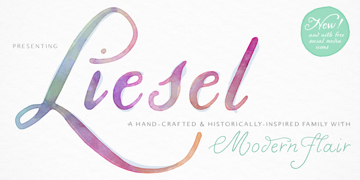 Download Liesel™ Fonts by Magpie Paper Works