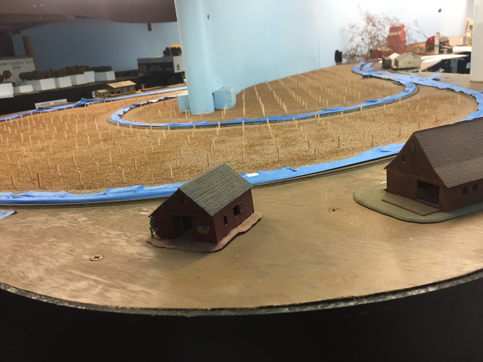 Central Pacific Railway Cprxa Model Railroad Well Dcc Wiring Ho Train Layouts On 3 Lamp T5 Ballast Diagram Spread And Glued Removed The Tooth Picks As I Planted Each Tree So Would Not Lose Hole Looooong Arduous Process