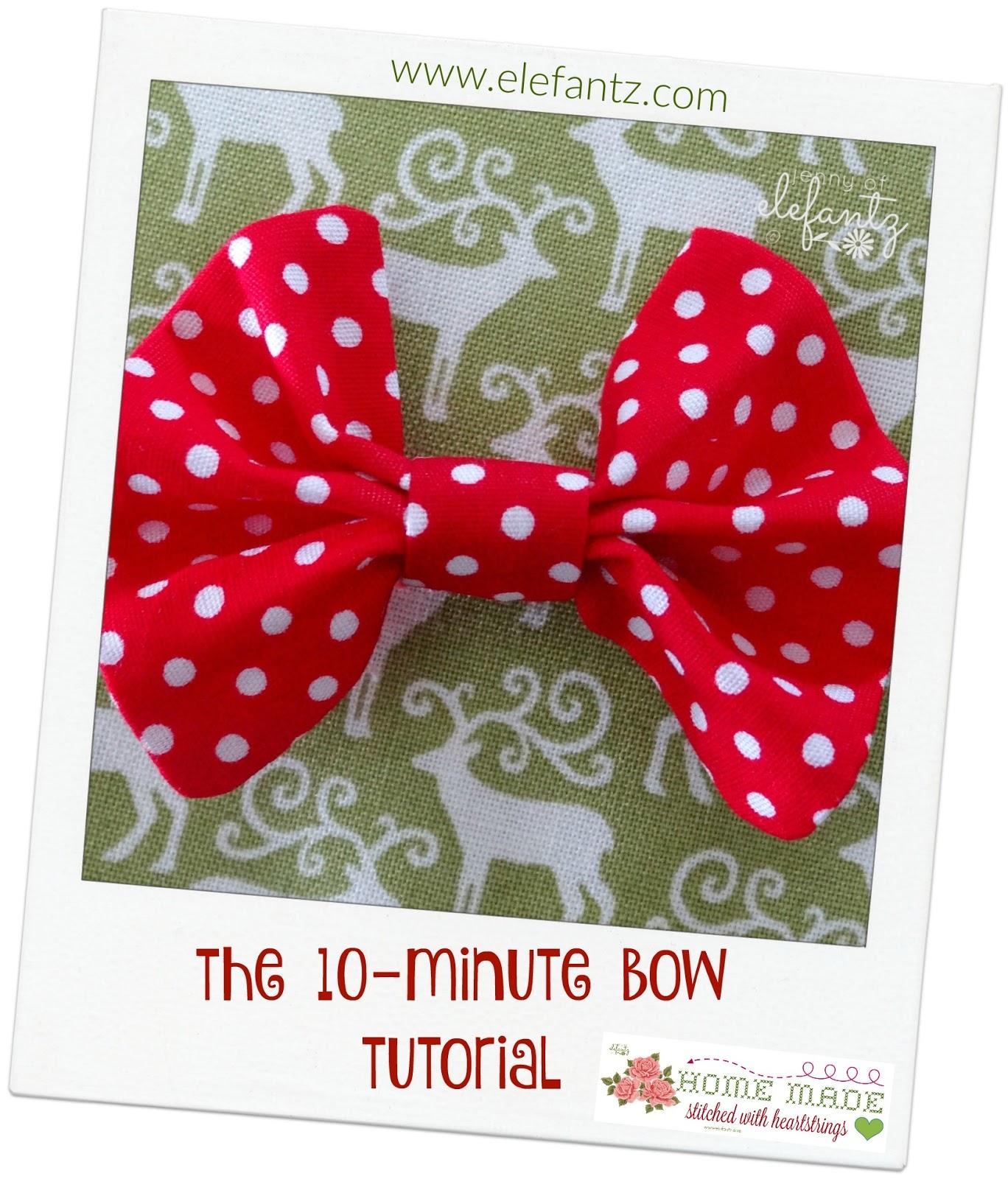Jenny Of Elefantz Make A Pretty 10 Minute Fabric Bow