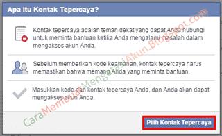 cara memulihkan akun facebook dengan bantuan teman
