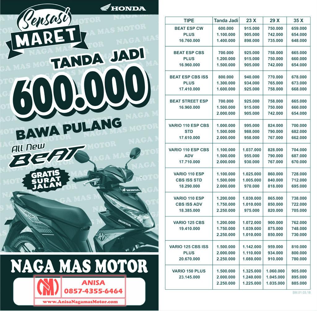 Promo Kredit Dp Ringan Motor Honda Bulan Maret 2018 Dealer Nagamas Sonic 150r Racing Red Karanganyar Terbaru Sepeda Klaten Update Ini Brosur Vario