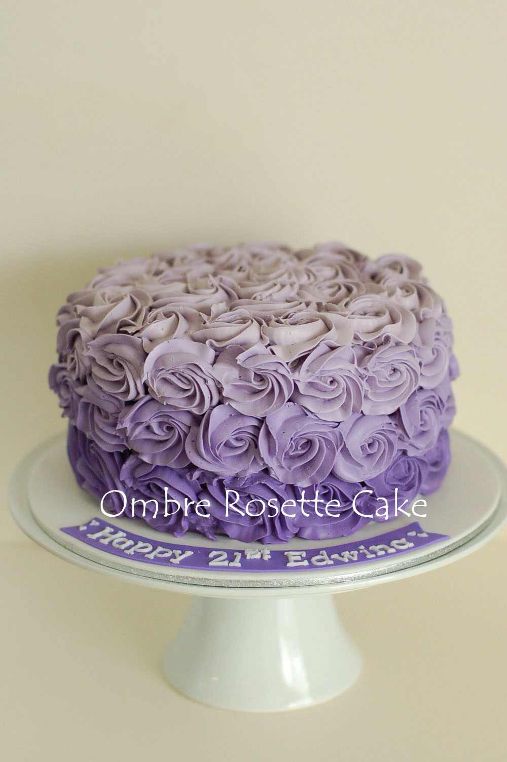 Simply Cakes Melbourne Purple Ombre Cake With Green