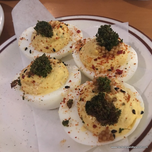 deviled eggs at Copper Spoon in Oakland, California