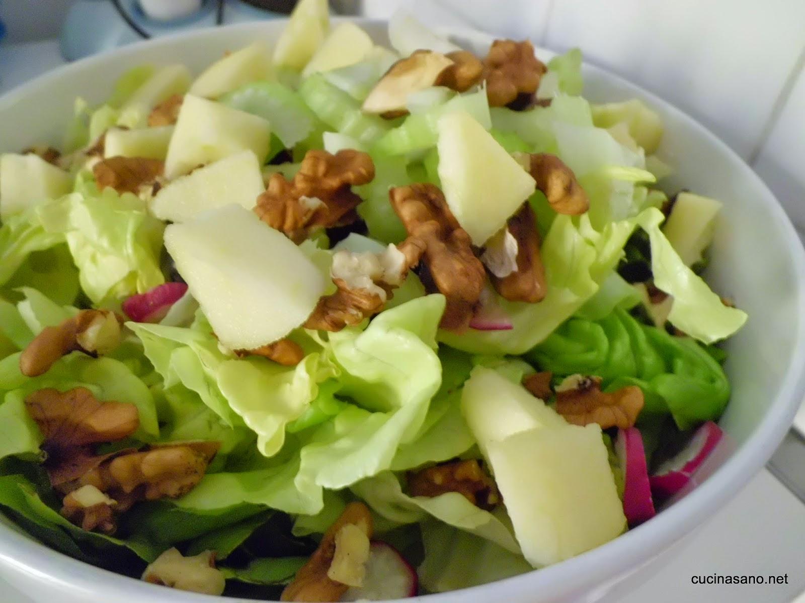 Ricette e salute insalata invernale mele e noci for Insalate ricette