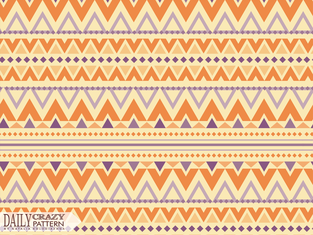 "Fancy pattern with rows for ""Daily Crazy Pattern"" project"