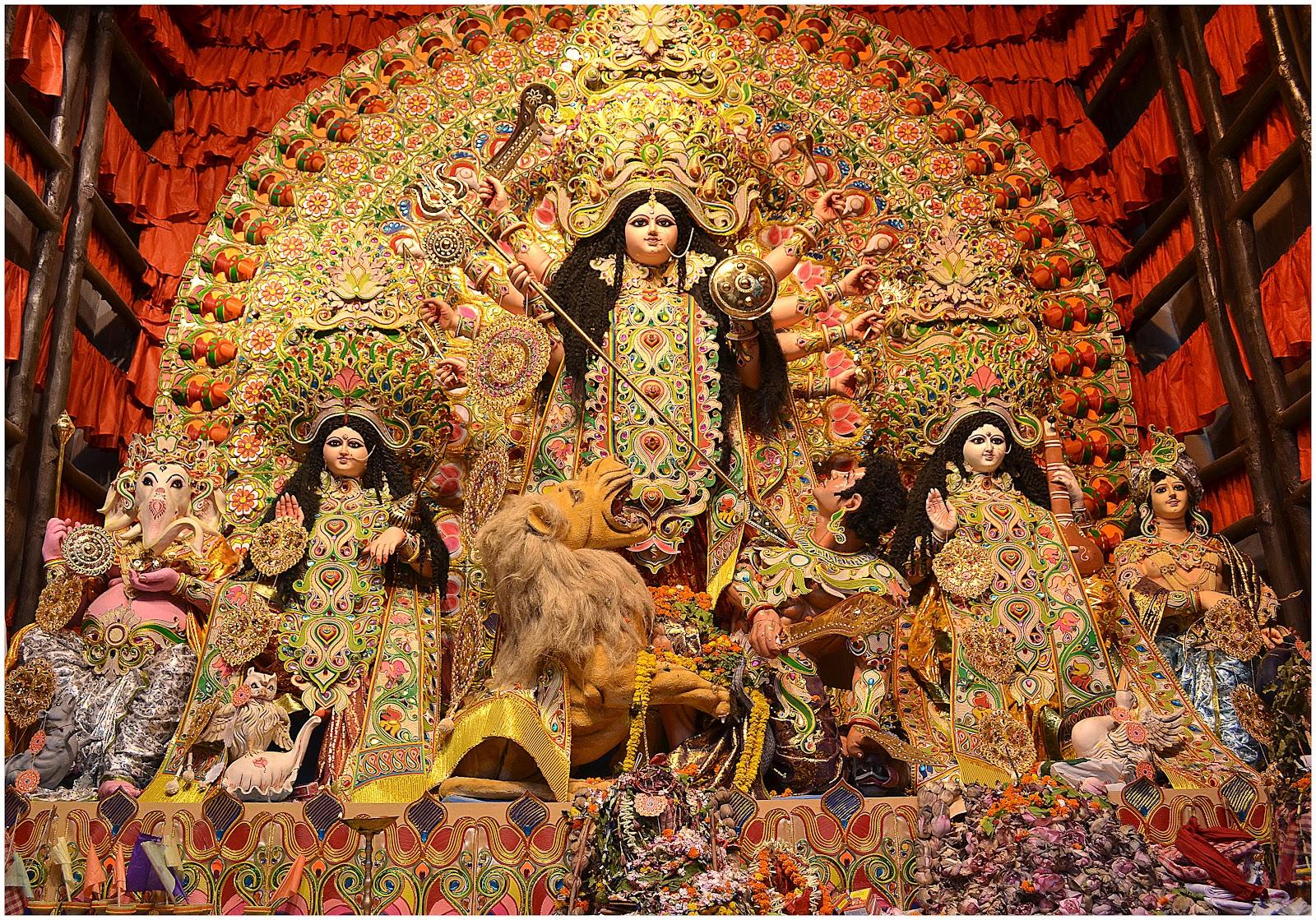 3d Wallpaper Jai Mata Di Diwali Greetings Durga Puja Wallpaper