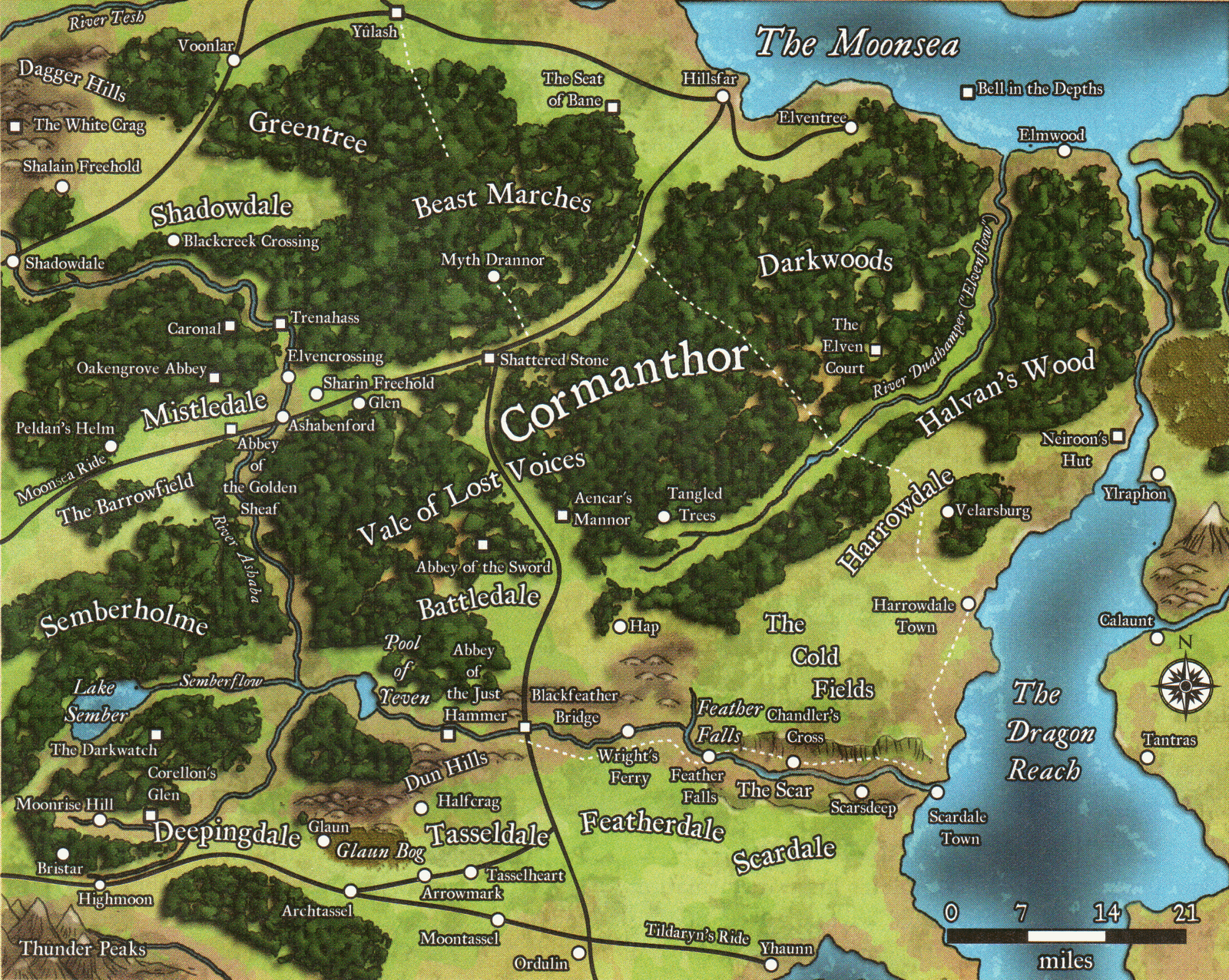 A Map Of Dalelands From The D D Encounters That Is – Fondos de Pantalla