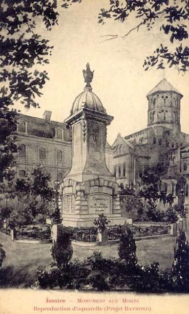 CPA monuments aux Morts du Puy-de-Dôme, Issoire