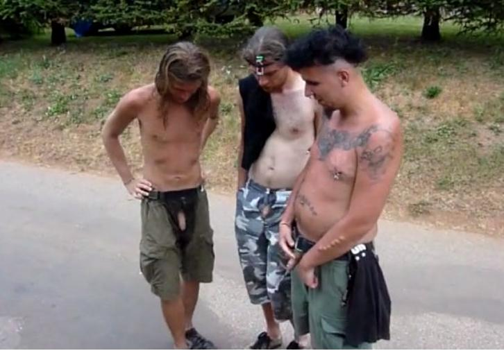 Men naked pissing outdoors nude