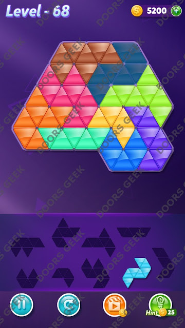 Block! Triangle Puzzle Proficient Level 68 Solution, Cheats, Walkthrough for Android, iPhone, iPad and iPod