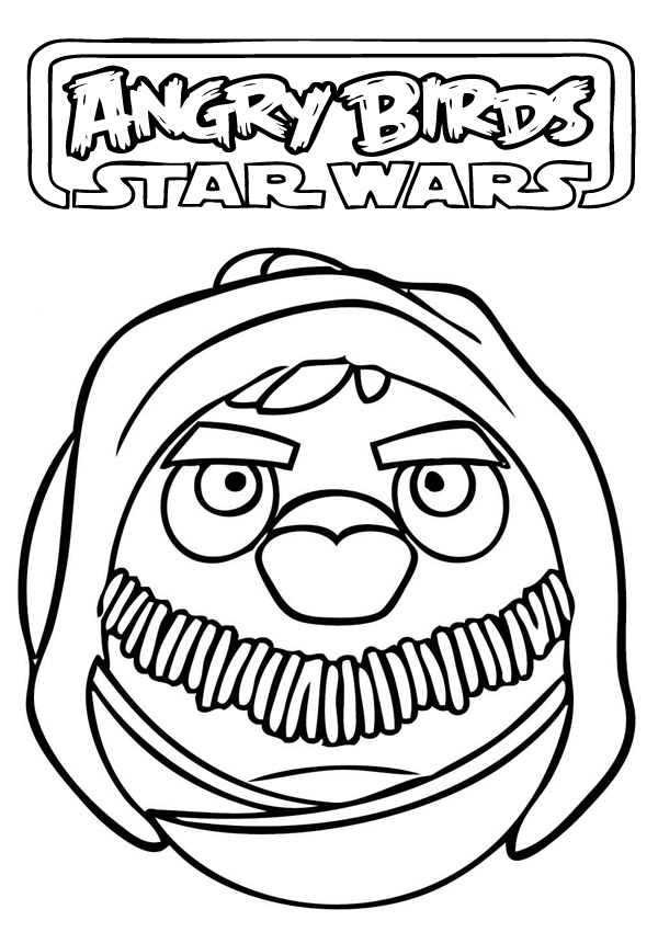 angry bird star wars coloring pages to print | Free Printable Coloring Pages - Cool Coloring Pages: Angry ...