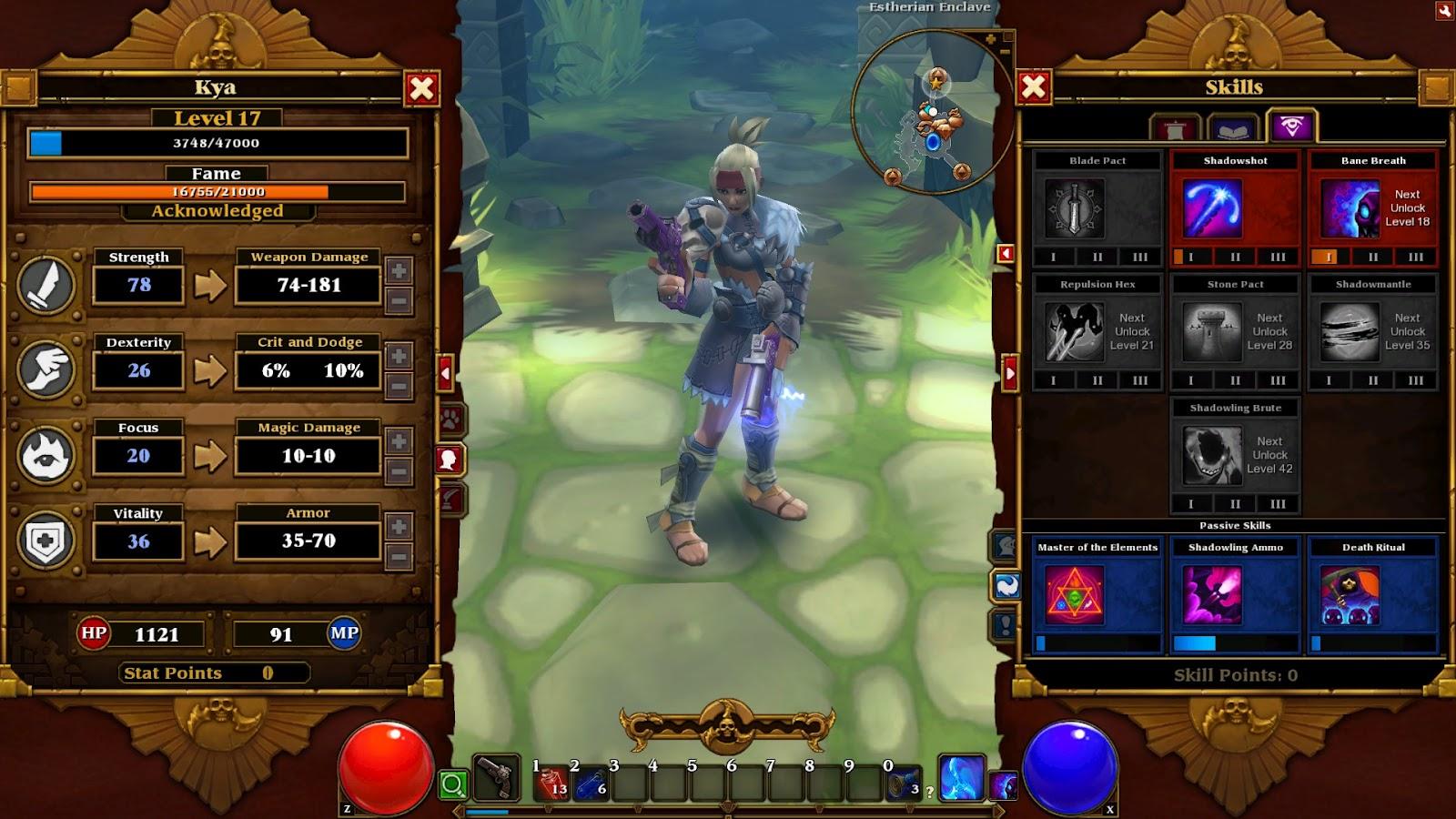 Backlogged Gamer: Torchlight 2 Outlander Build for Elite Hardcore - WIP