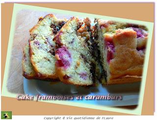Vie quotidienne de FLaure: Cake framboises et carambars