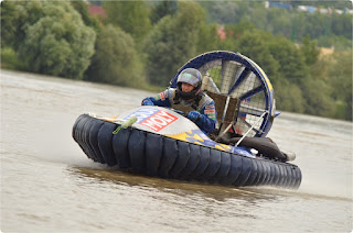 Hovercraft racing on water