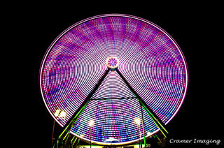 Cramer Imaging's professional quality long exposure fine art photograph of carnival Ferris wheel at Eastern Idaho State Fair in Blackfoot, Bingham, Idaho