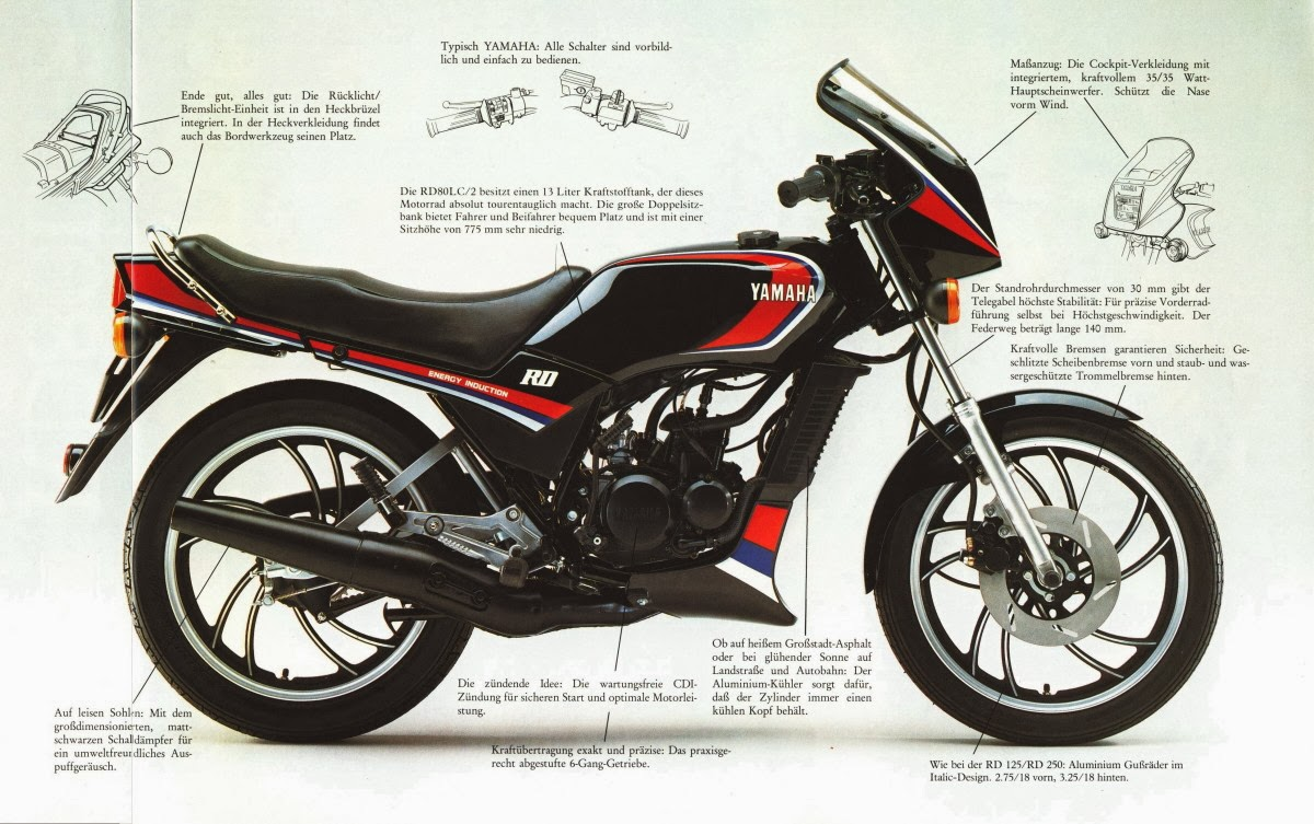 honda mbx80 yamaha rd80lc and lc2 brochures. Black Bedroom Furniture Sets. Home Design Ideas