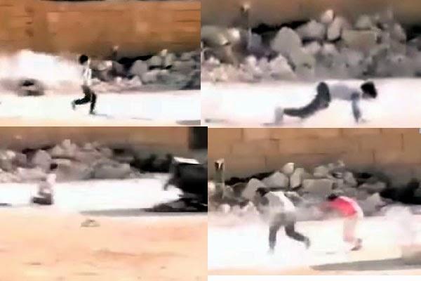 بالفيديو: طفل سوري بطل ينقذ شقيقته تحت وابل من الرصاص