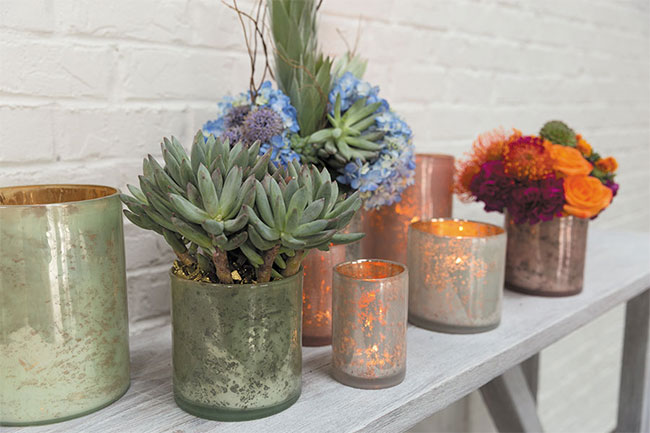 Perfect for Easter and Spring Floral Arrangements - Wholesale Pastel Mercury Glass Vases from Accent Decor