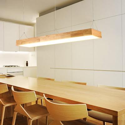 Lợi ích khi sử dụng đèn thả trần trang trí bằng gỗ cho phòng khách
