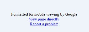 formatted for mobile view google
