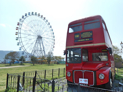 shimonoseki red london bus