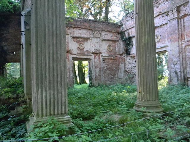 ruiny pałacu w Zatoniu i budowli towarzyszących