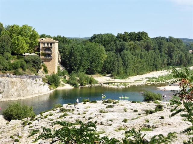 Pont du Gard, vista de la playa