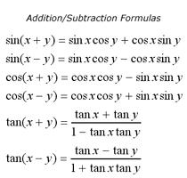 trignometric formula and equation