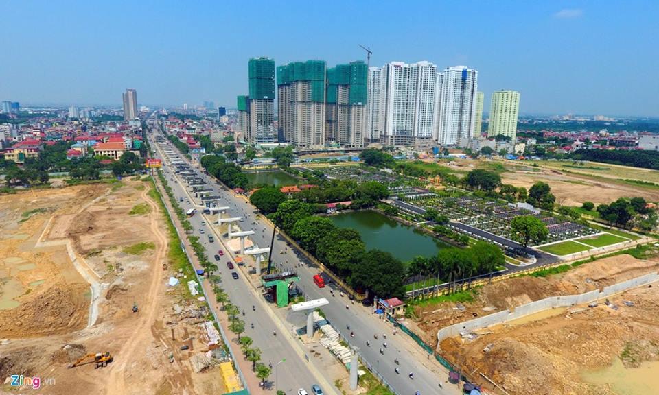 Khung cảnh hồ điều hòa bao trọn dự án Goldmark City