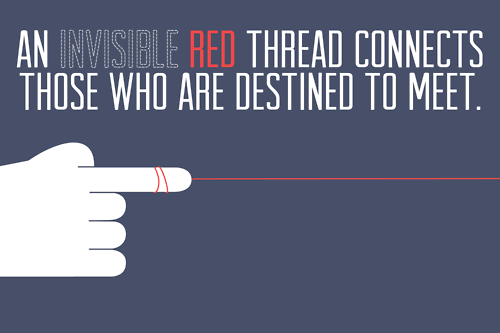 Inspirational Picture Quotes...: An invisible red thread ...