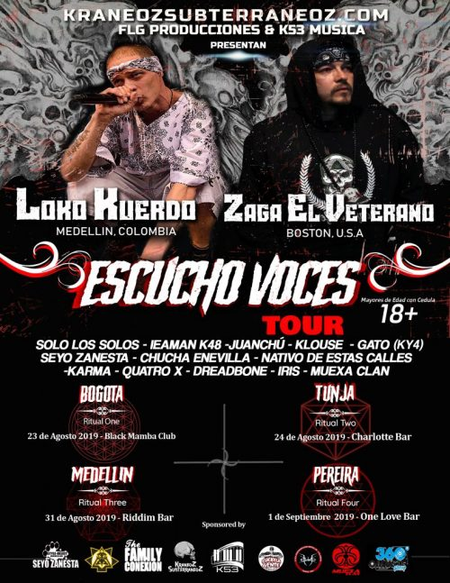 ESCUCHO VOCES TOUR 2019 [COLOMBIA]