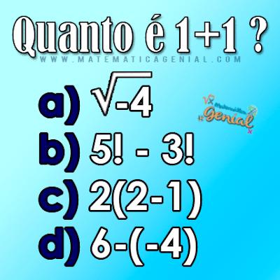 Desafio - Quanto é 1 + 1?