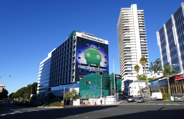 Giant Final Space TV billboard