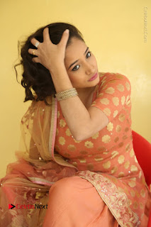 Telugu Actress Santoshi Sharma Latest Stills in Salwar Kameez at HBD Movie Teaser Launch  0091.JPG