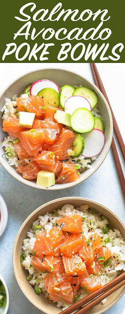 Salmon Avocado Poke Bowl