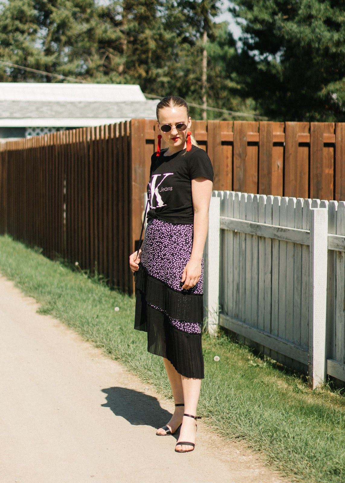 Calvin Klein t-shirt - H&M dress - In My Dreams - Canadian Fashion Blogger outfit