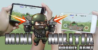 Cara Bermain Single dan Multiplayer Offline Doodle Army 2 Mini Militia