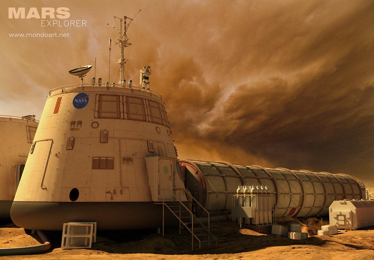 Mars Explorer base by Mondolithic Studios