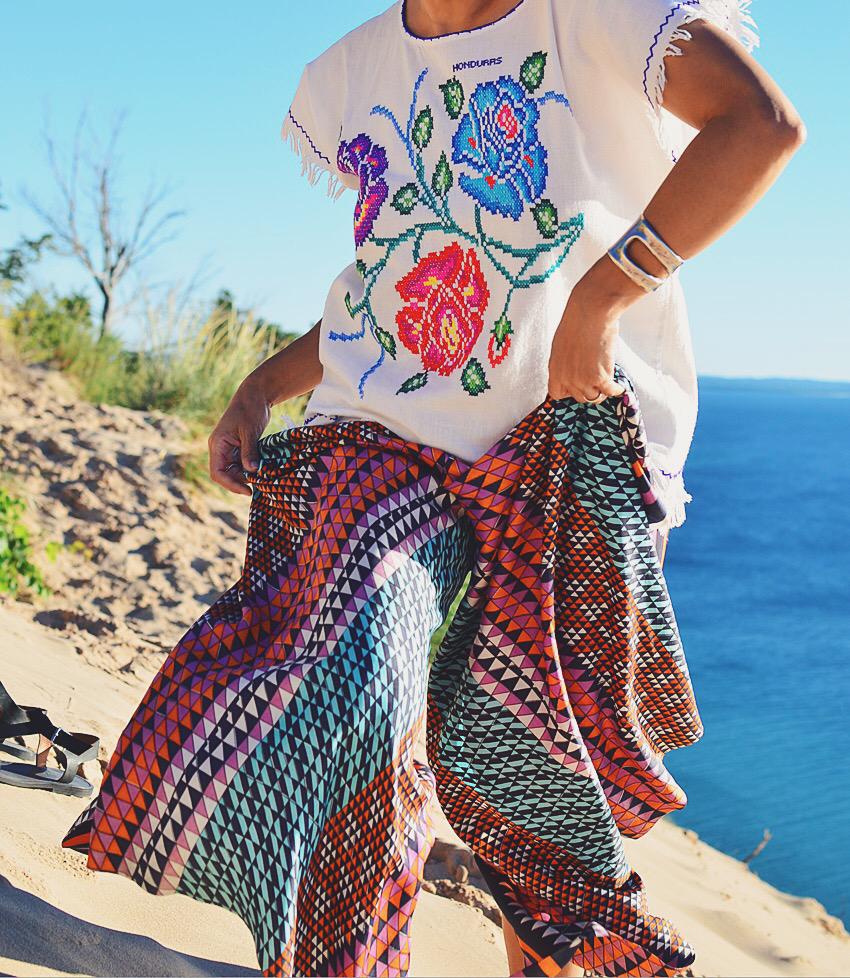 Fashion photoshoot at the beach