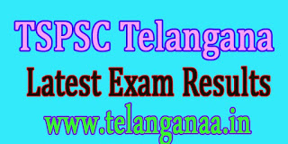TSPSC Telangana TS Department Test Latest Exam Results