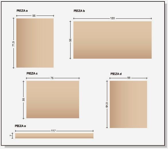 Plano de mueble de melamina proyecto 2 alacena de cocina for Proyectos de muebles en melamina