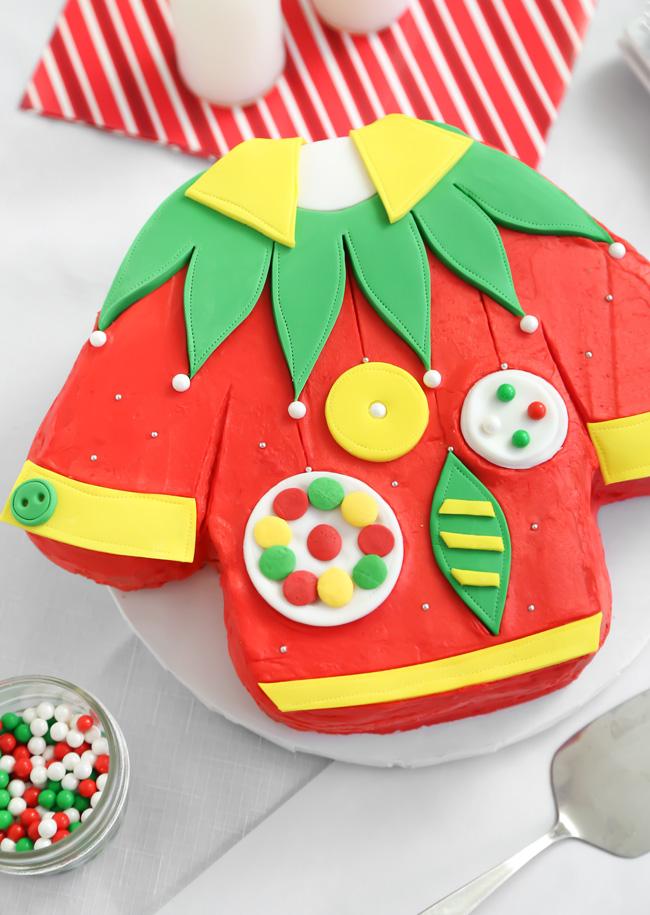 Ugly Christmas Sweater Cake Sprinkle Bakes