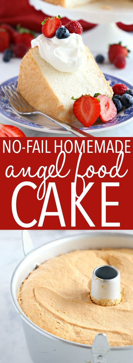 No Faíl Homemade Angel Food Cake